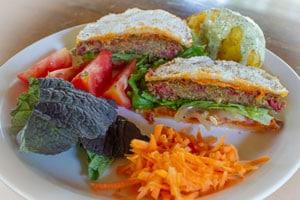 veggie burger, vegetarian food