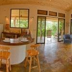 Villa salon and kitchen